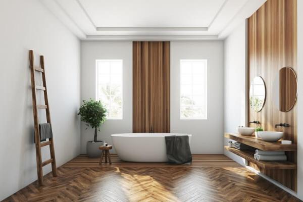 okna w łazience