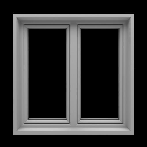 T-Passive Plus okno monoblok kolor silver slate