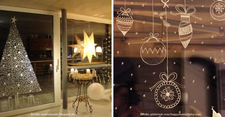 dekoracje świąteczne okien