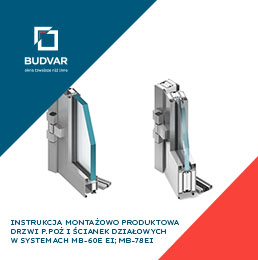 Instrukcja montażowo-produktowa drzwi P.POŻ Budvar
